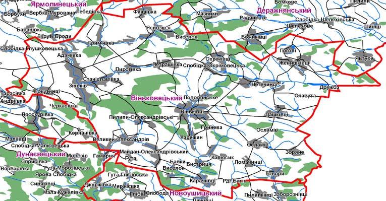 Карта Віньковецького району